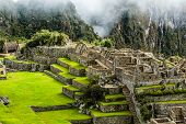 foto of ancient civilization  - Machu Picchu the ancient Inca city in the Andes Peru - JPG