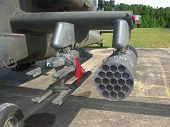 pic of apache  - Apache Helicopter wing with rocket and missile pods - JPG