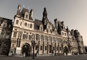 foto of liberte  - Town Hall of Paris known as the Hotel de Ville or Mairie is the seat of the municipality of Paris  - JPG