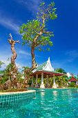 KOH KHO KHAO, THAILAND - NOV 14: Oriental architecture of Andaman Princess Resort & SPA. Hotel was d
