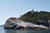 stock photo of saracen  - island of tino in the gulf of la spezia - JPG