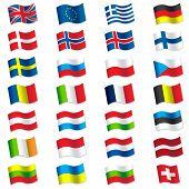 stock photo of sweden flag  - Super vector illustration of world flags - JPG