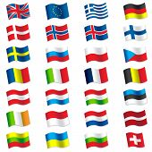 image of sweden flag  - Super vector illustration of world flags - JPG