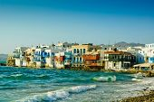 foto of beachfront  - Greek island of Mykonos - JPG