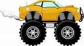 foto of monster-truck  - monster car sport 4x4 cartoon isolated on white background - JPG