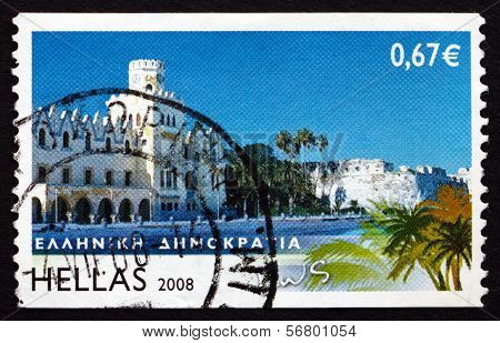 Postage Stamp Greece 2008 Kos, Island View