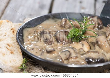 Mushrooms In Cream Sauce