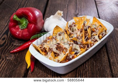 Nachos Gratinated With Cheese
