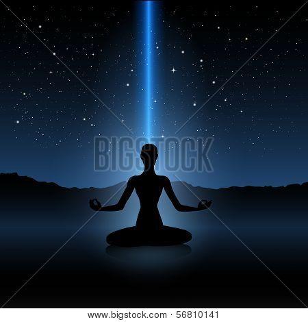 Yoga Human Silhouette