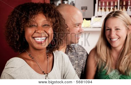 African American Woman With Friends