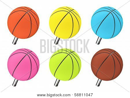 Basketball push pin