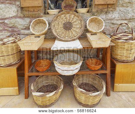 handmade rattan baskets for sale
