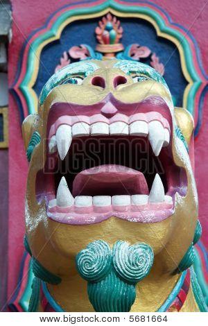 Buddhist Lion Guardian, Tengboche Monastery, Nepal