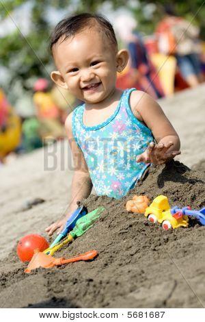 Fun Play At The Beach