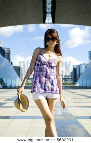 Fashionable Chinese Girl In The City