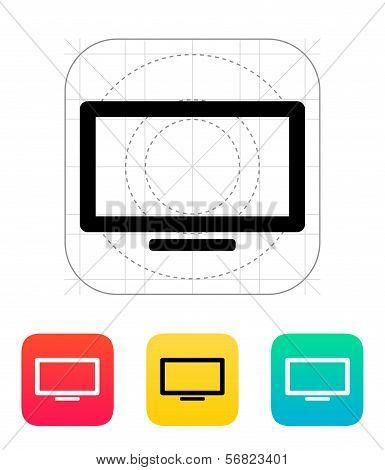 Plasma screen icon.
