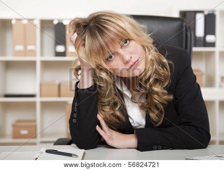 Bored Beautiful Businesswoman