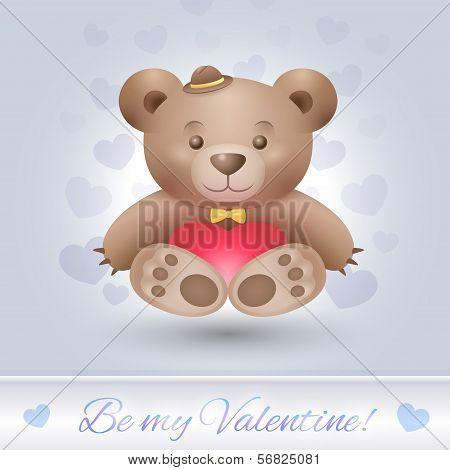 Gentle bear boy in love