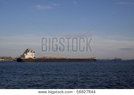 Ship Entering Harbor