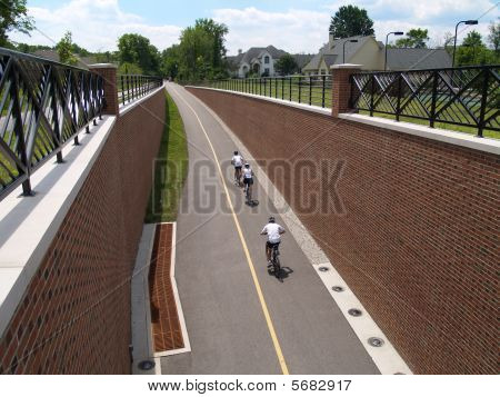 Cyclists Riding on the Monon Trail