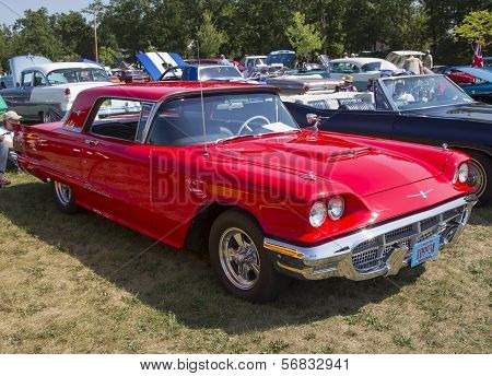 1960 Red Ford Thunderbird Side View