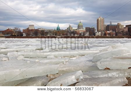 Ice Breaking At Harrisburg
