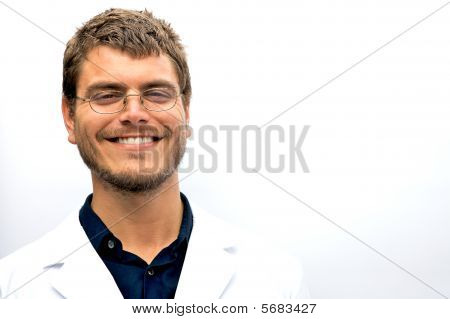 Attractive Scientist Student