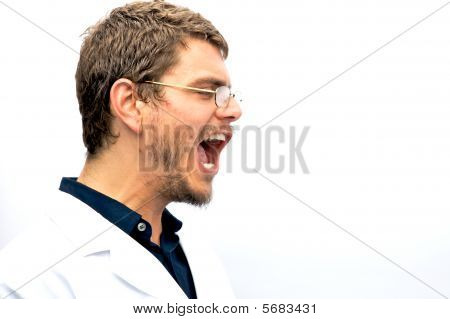 Yelling Scientist Student