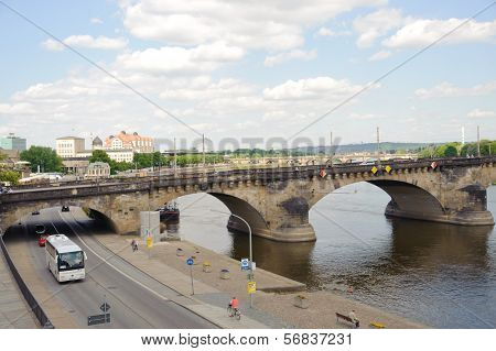 DRESDEN, GERMANY - MAY 13: people in center of Dresden on May 1, 2009 in Dresden, Germany. Dresden the capital of the German state of Saxony and one of tourist center