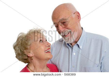 Senior Couple Private Joke