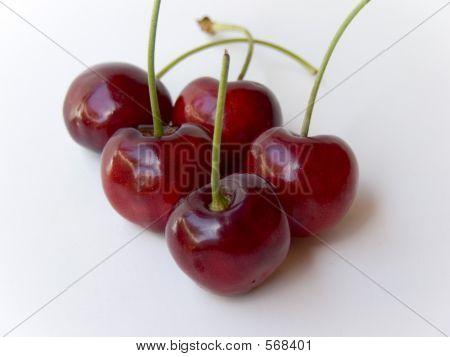 Cherries On White 1