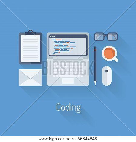 Coding And Programming Flat Illustration