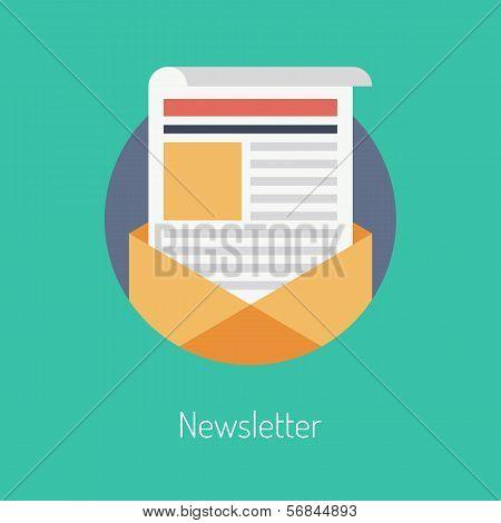 Newsletter Flat Illustration Concept