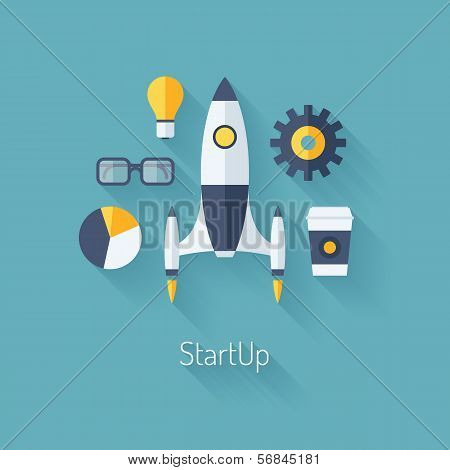 Product Launch Flat Illustration