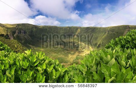 Volcanic Caldeira of Faial, Azores islands