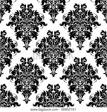 Intricate Foliate Arabesque Seamless Pattern