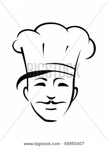 Chef With A Moustache And Toque