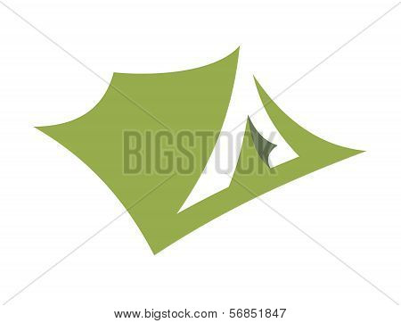 Stylized Open Pitched Tent Design
