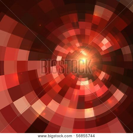 Red abstract vector circle mosaic background