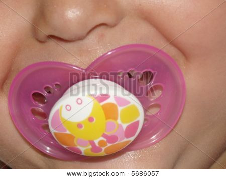 soother in mouth