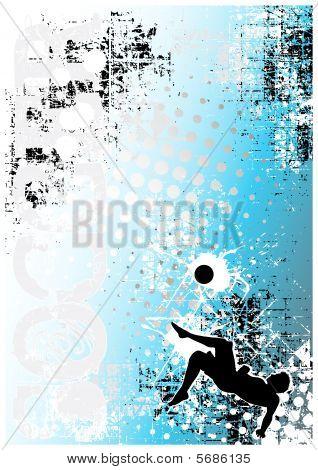 Soccer Poster Blue Background 5
