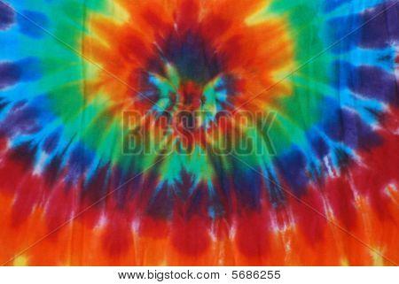 Bright colored tie dye