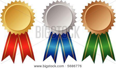 Tres medallas