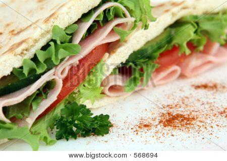 Colourful Healthy Salad Sandwich