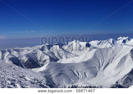 View On Off-piste Slopes And Blue Sky