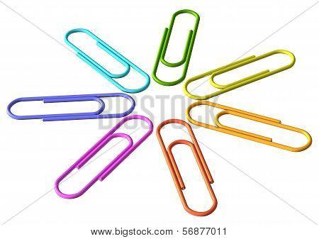 Colored Clip Set Diagonal View