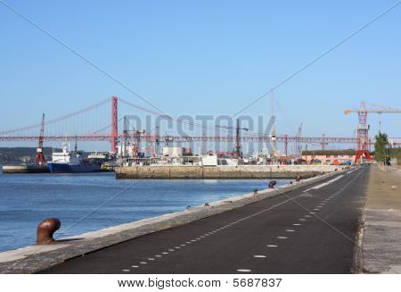 Cycleway In Lisbon