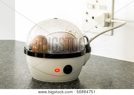 Eggs In An Egg Boiler