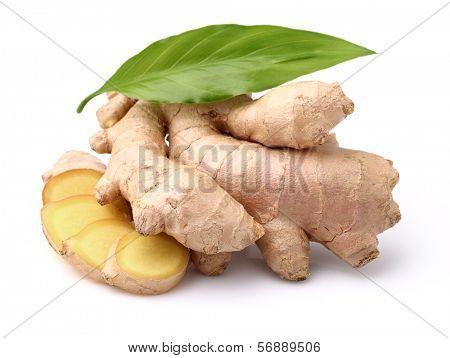 Ginger root in closeup