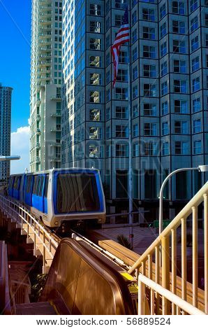 Monorail On A Track